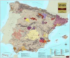 Wine Region Map of Spain - you never know....