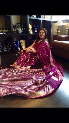 Benarasi Saree from Ekaya. Description by Pinner Mahua Roy Chowdhury