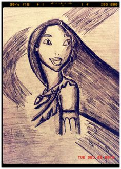 My First Real drawing <3  It's Pocahontas Btw.