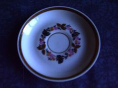 Vintage USSR Latvia Riga RPR Porcelain white Cofee Saucer  1970s #44