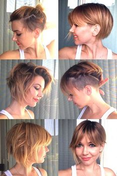21 Attention Grabbing Undercut Bob Ideas To Bolden Your Days New Site - Haar flechten Short Bob With Undercut, Undercut Bob Haircut, Line Bob Haircut, Short Straight Hair, Short Pixie Haircuts, Short Curly Hair, Short Bob Hairstyles, Short Hair Cuts, Curly Hair Styles