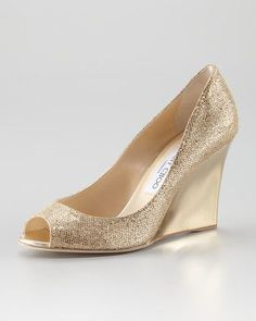Baxen Glitter Mirrored Wedge by Jimmy Choo at Neiman Marcus.