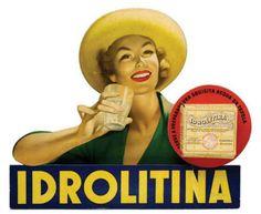 Vintage Italian Posters ~ #illustrator #Italian #vintage #posters ~ Idrolitina Italian vintage sparkling water