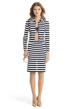DVF Lacie Striped Knit Jacket