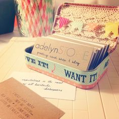 adelynSTONE: Business Card Display | DIY