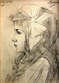 Guusje van Lede - potlood op papier - Jan Toorop 1917