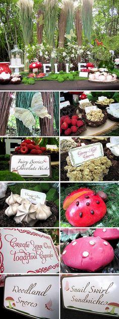 Fairy woodland party idea