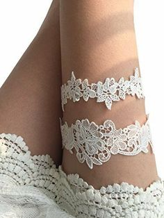 f6d8761c0ae YuRong Flower Leaf Style Garter Set Wedding Garter Set Bridal Garter G08  Ivory  YuRong Fun