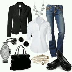 Dress Casual. I like that coat with the white shirt and with the jeans! My favorite outfit // ADDED: 9.17.14 any day.