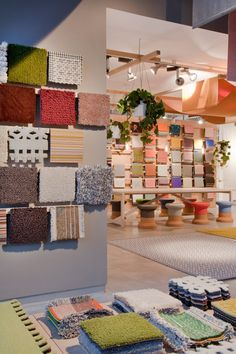 werner aisslinger creates a 'garden of wonders' — a small architectural hut — used to showcase kvadrat textiles Design Shop, Showroom Design, Hall Design, Store Design, Showroom Ideas, Booth Design, Commercial Interior Design, Interior Design Studio, Furniture
