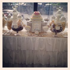 Rustic / vintage wedding lolly buffet styled by Once Upon A Table events