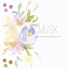 Watercolour Flower Clipart  Musk by CreateTheCut on Etsy