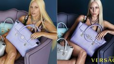 Lady Gaga Without Photoshop: Versace Ads Look Like a Different Person! Photoshop Fails, Effects Photoshop, Beyonce, Lady Gaga Versace, Lady Gaga Before, Fotos Lady Gaga, Before And After Photoshop, Makati, Big Star