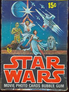 Vintage Topps Star Wars Movie Photo (trading) Cards & Bubble Gum Display Packaging Carton - #movies #collectibles #tradingcards #scifi #packagedesign #illustration