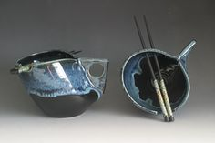 Rice w/Chop Sticks Bowl - Also by Heidi /; Rice Bowls, Chopsticks, Health And Nutrition, Sugar Bowl, Bowl Set, Pottery, Kitchen, Ceramica, Cooking