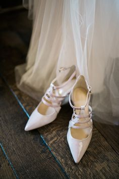 Beth and Walter's 38 Guest Montecito Summer Solstice Wedding. Photos by Annie Hall. See more @intimateweddings.com #weddingshoes