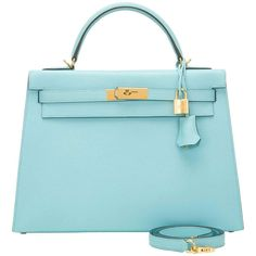Hermes Blue Atoll Epsom Sellier Kelly 32cm Gold Hardware 1