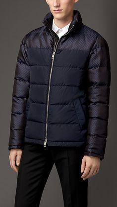 Burberry London Silk Detail Puffer Jacket
