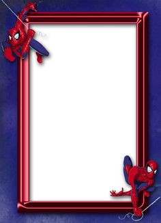 Spider Man Blue Kids Transparent Frame