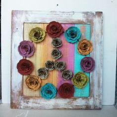 pallet art flowers - Buscar con Google