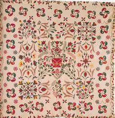 Baltimore Album Quilt top, 1845. Maryland.