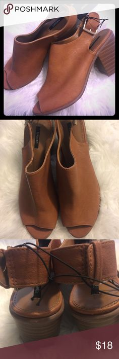 Forever21 tan shoes Brand new with tags excellent condition Forever 21 Shoes