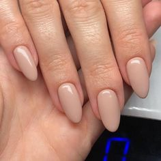 Why Almond Nails Are Trending for 2019 - These almond-shaped nails are the perfect choice for someone who likes long nails that are rounded and pointed at the tips. Check out these cool nail art designs for almond nail shapes. Nude Nails, Pink Nails, My Nails, Coffin Nails, Shellac Nail Colors, Color Nails, Shellac Nails, Black Nails, Matte Nails