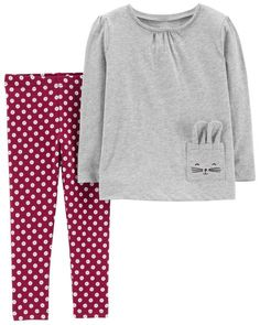 Toddler Girl 2-Piece Jersey Top  amp  Polka Dot Legging Set from Carters.  Carters Baby ClothesFall ... 23be1bc75