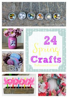 24 Spring Crafts at thebensonstreet.com #spring #springideas