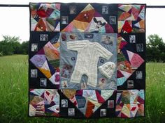 Keepsake Quilt from Baby Clothes #Keepsake #Baby