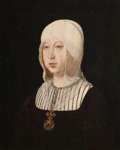 Isabel I de España,  Juan de Flandes, Hacia 1500-1504 Óleo sobre tabla, 63 x 55 cm Patrimonio Nacional, Palacio Real de Madrid