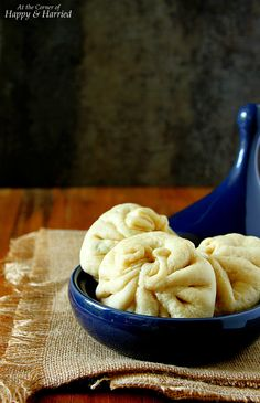 BAOZI {CHINESE STEAMED MEAT BUNS}. Soft, fluffy, delicately steamed buns made with a traditional yeast dough! #happyandharried #Chinese #steamed #bun #yeast #bao #baozi #mantou #recipe #snack #meat #chicken #stuffed #filled