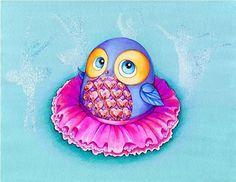 Ballerina Owl by Annya Kai.