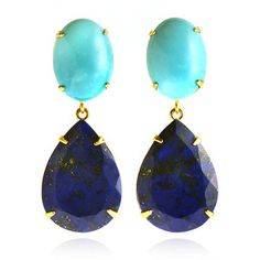 turquoise and lapis earrings by Bounkit