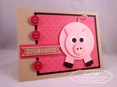 Punch Art Pig Birthday JR