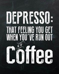 Depresso Coffee Sign #coffeesigns