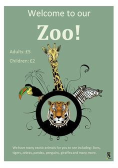 Editable Zoo Poster...Beautifully illustrated zoo poster with editable text. Ideal to use in role play scenarios in your school or early years settings.