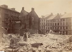 Ruins on Milk Street after the Great Boston Fire of 1872. Photo by James Wallace Black.