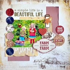 Kaisercraft Old Mac Mac Stickers, One Month Old, General Crafts, Sweet Memories, Life Is Beautiful, Farm Animals, Scrapbooking, Scrapbook Layouts, Card Making