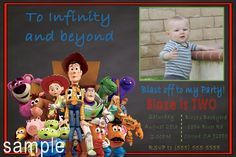 Toy Story  Birthday Invitation, Click on the image twice to place orders or follow me on facebook. or email me at the address in BIO.