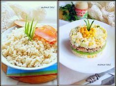 Жареный рис «Монреаль» и рыбный салат «К празднику» на его основе. Тест-драйв.