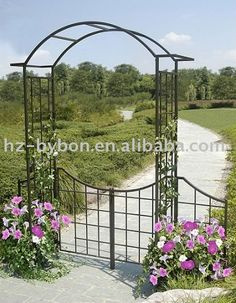 #Steel Arbor, #garden arbor gate, #garden arbors with gates