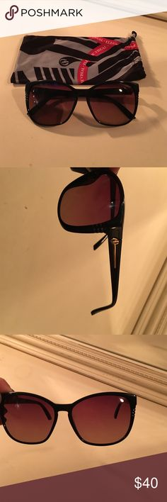 Electric Visual Rosette sunglasses Lightly used. Gloss black with rose lens. Electric Visual Accessories Sunglasses