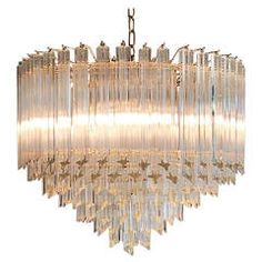 Crystal Chandelier by Venini  This is the kind I don't like as much as the uplight sort.