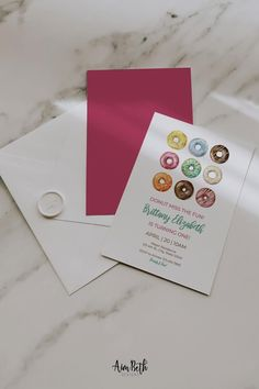 Donut Birthday Party Invitation Template - #donutbirthday #donutparty #donut #doughnut #invite #invitation #birthday #watercolordonuts #donutmissthefun #donutgrowup #template #printable #editable