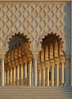 Columns at the mausoleum of King Mohammed V | Rabat, Morocco