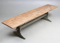 Bilder för 180856. BOCKBORD / LÅNGBORD, allmoge, 1800-tal. – Auctionet
