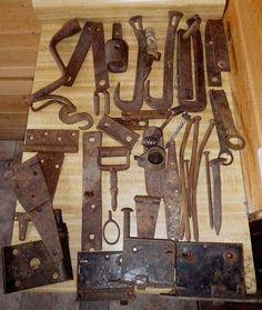 Antique Rustic Farm Cabin Decor PRIMITIVE IRON BARN TRACTOR FARM RESTORATION LOT