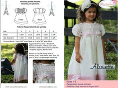 Alouette is a gorgeous dress with an optional floaty overlay and a smocked bodice. It comes in sizes 1-5. This can be shirred as well. The back buttons. A contrasting hem adds a gorgeous detail to this elegant dress. Sizes: 1-5 Sewing Level: Advanced ***IMMEDIATE DOWNLOAD*** With this listing, you will receive an electronic pdf pattern to make this dress in sizes 1-5. There are detailed instructions with lots of step-by-step diagrams and pattern sheets that can be printed over and over...