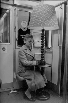 Gilles Rigouler woman on the train, 1977 -- yes, I carried a few strange things on the train in my time, too!